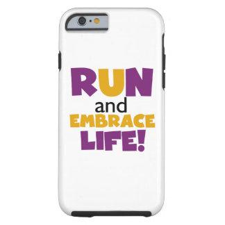 Run Embrace Life Purple Yellow Tough iPhone 6 Case