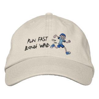 Run FAST, Break WIND! Baseball Cap