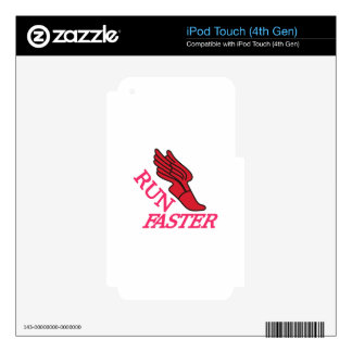 Run Faster iPod Touch 4G Decal