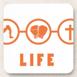 Run Fight Die - That s life Beverage Coasters