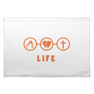 Run Fight Die - That's life! Placemat