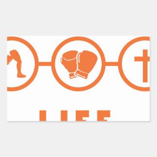 Run Fight Die - That's life! Rectangular Sticker
