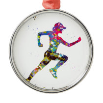 Run, find yourself metal ornament