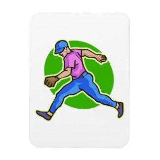 run for it rectangular photo magnet