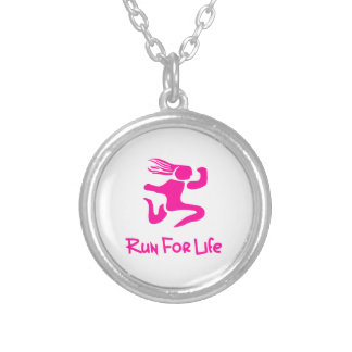 Run For Life Silver Plated Necklace