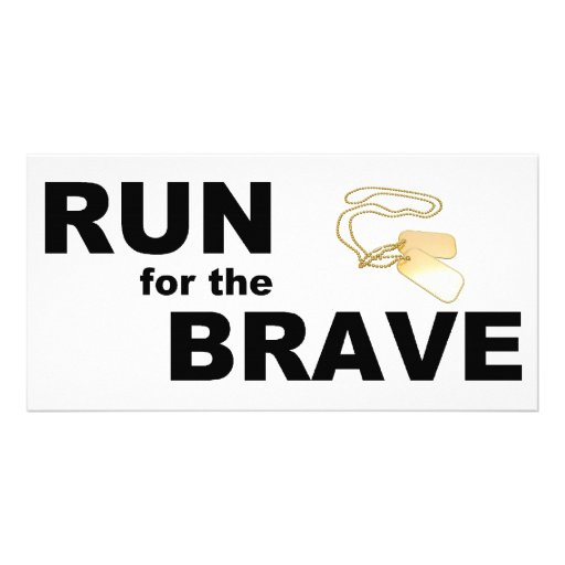 Run for the brave photo card