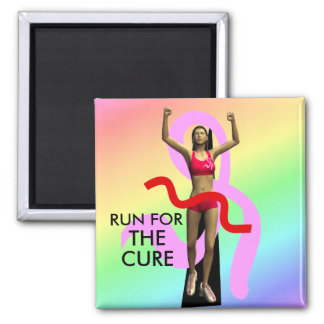 Run For The Cure Breast Cancer Awareness Magnet