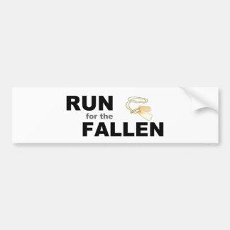 Run for the fallen car bumper sticker