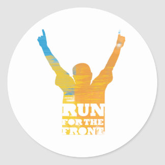 Run For the Front: Watercolor Classic Round Sticker