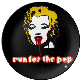 run for the pop porcelain plate