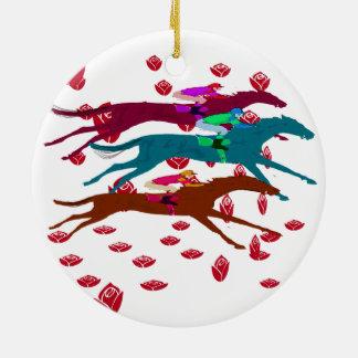 Run for the Roses 2016 Horse Racing Ceramic Ornament