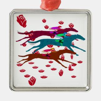 Run for the Roses 2016 Horse Racing Metal Ornament