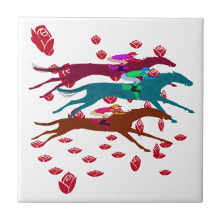 Run for the Roses 2016 Horse Racing Tile