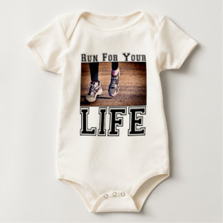 Run For Your Life Baby Bodysuit