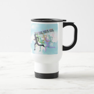 RUN FOR YOUR LIFE 15 OZ STAINLESS STEEL TRAVEL MUG