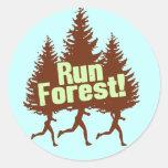 Run Forest Classic Round Sticker