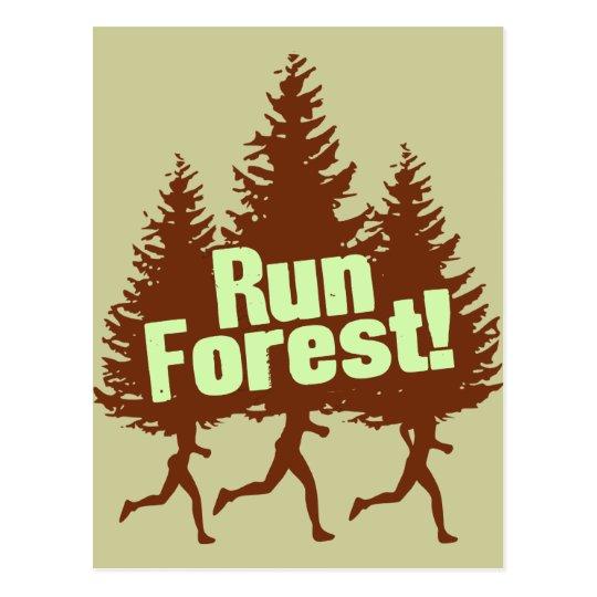 Run Forest Postcard