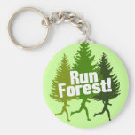 Run Forest, Protect the Earth Day Basic Round Button Keychain