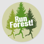 Run Forest, Protect the Earth Day Classic Round Sticker