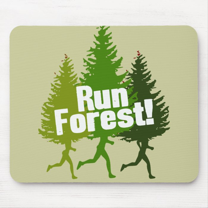 Run Forest, Protect the Earth Day Mouse Pad