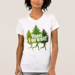 Run Forest, Protect the Earth Day Tee Shirts