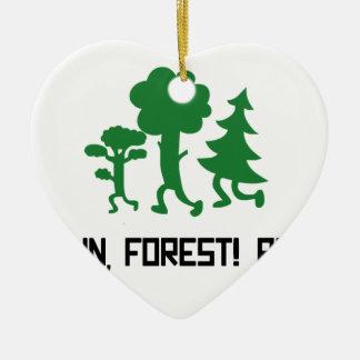 Run, Forest! RUN! Ceramic Ornament