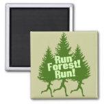 Run Forest Run Fridge Magnets