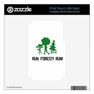 Run, Forest! RUN! iPod Touch 4G Decals