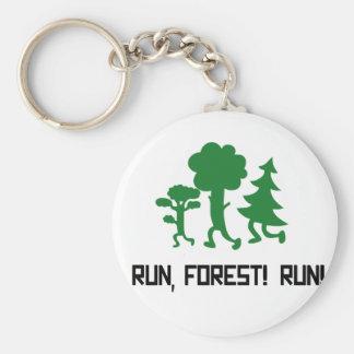 Run, Forest! RUN! Keychain