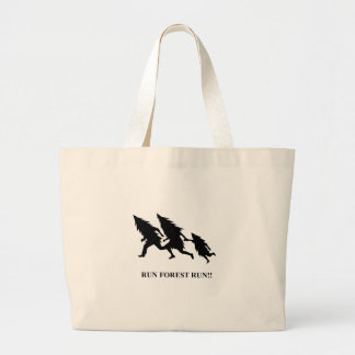 Run Forest Run Large Tote Bag