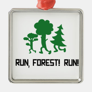 Run, Forest! RUN! Metal Ornament