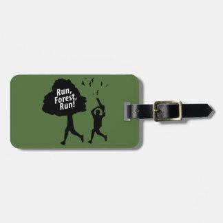 Run Forest Run Travel Bag Tag