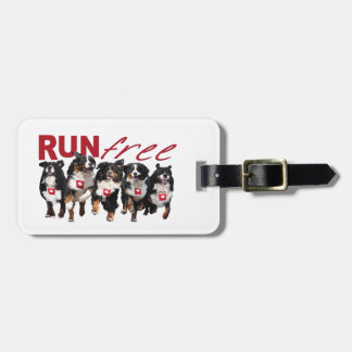 Run Free Berner luggage tags