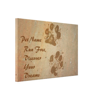 Run Free  Discover Your Dreams  Wrapped Canvas