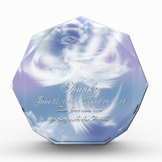 Run Free Pet Loss Memory Acrylic Award