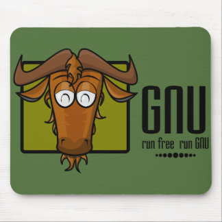 Run free, run GNU! Mouse Pad