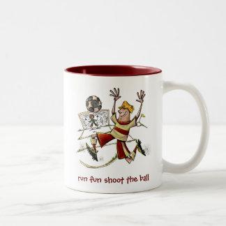 Run Fun Shoot The Ball Coffee Mugs