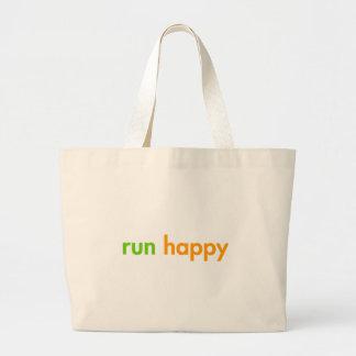 run-happy-fut-green-orange png canvas bag