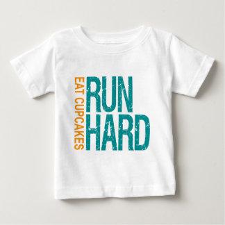 Run Hard Eat Cupcakes Baby T-Shirt
