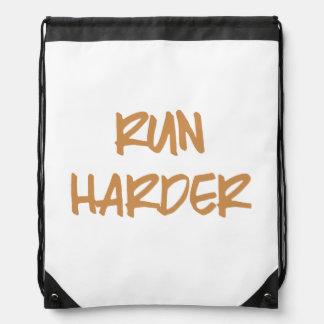 Run Harder Drawstring Backpack
