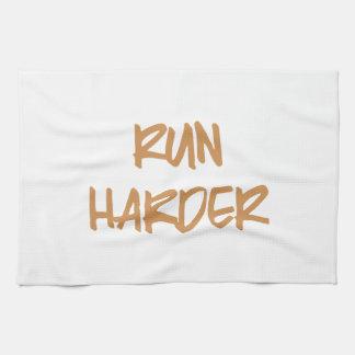 Run Harder Motivational Workout Hand Towels