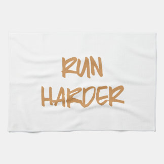 Run Harder Motivational Workout Kitchen Towel