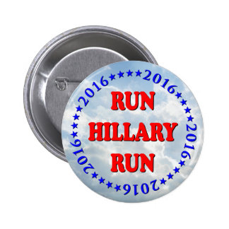 Run Hillary - Circle - No BG - MultiProducts 2 Inch Round Button