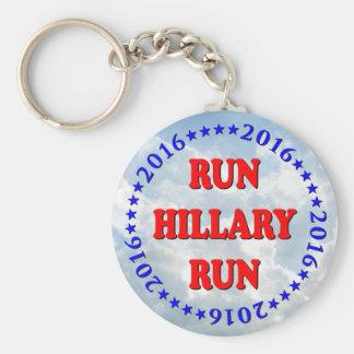 Run Hillary - Circle - No BG - MultiProducts Keychains
