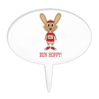 Run Hoppy! Rabbit Runner in Red Cake Topper