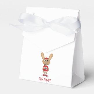Run Hoppy! Rabbit Runner in Red Party Favor Box
