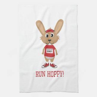Run Hoppy! Rabbit Runner in Red Towel