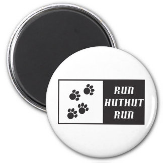 Run HutHut Run 2 2 Inch Round Magnet