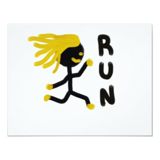 Run 4.25x5.5 Paper Invitation Card