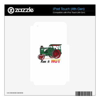 Run It Hot Skins For iPod Touch 4G